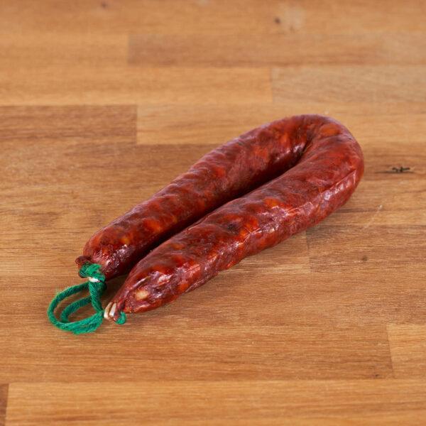 Sarta de chorizo picante elaborada con productos ecológicos