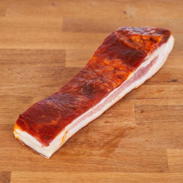bacon en taco curado de cerdo ecológico