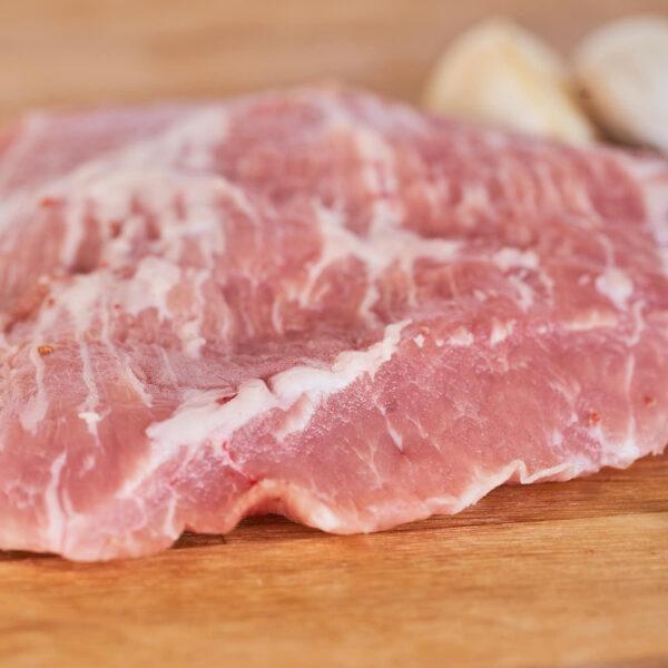 pieza de secreto de cerdo alimentado de forma ecológica
