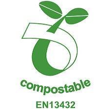 sello identificativo de packaging compostable