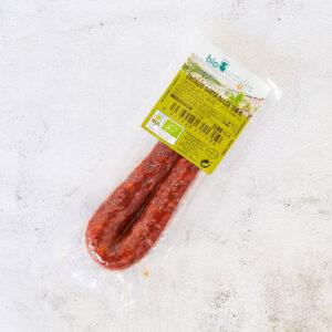sarta de chorizo dulce elaborada con carne y especias ecológicas