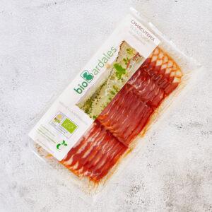bacon curado de cerdo ecológico