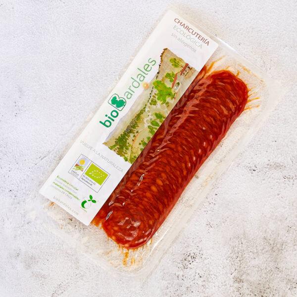 chorizo loncheado elaborado con productos ecológicos