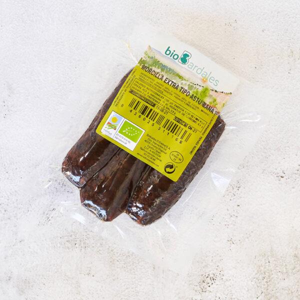 morcilla de estilo asturiano elaborada a través de productos ecológicos