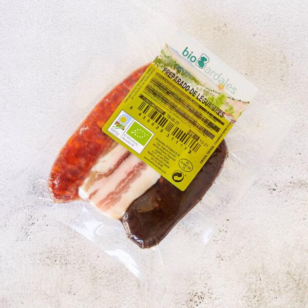 chorizo, morcilla y panceta ecológico para realizar cualquier preparado de legumbres